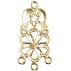 Brass Chandelier Flower 3 Loop 25mm